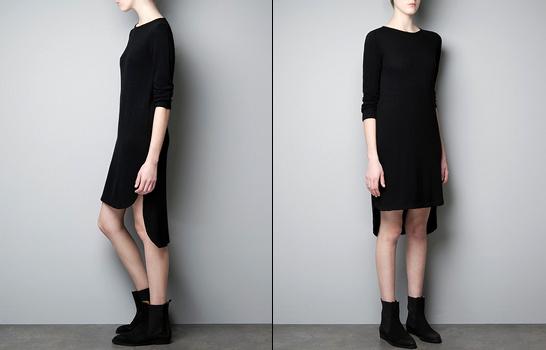 petite robe noire zara tendances de mode. Black Bedroom Furniture Sets. Home Design Ideas