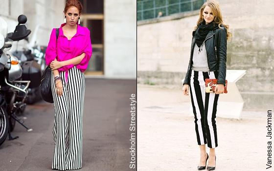 Le pantalon � rayures verticales