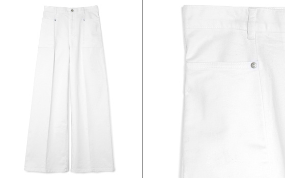 Pantalon large blanc COS