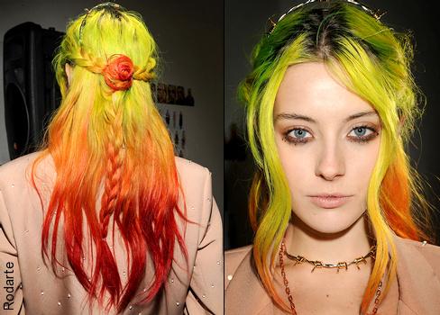 Le ombr� hair fluo