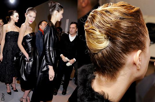 Effet cheveux mouillés - Défilé Dior