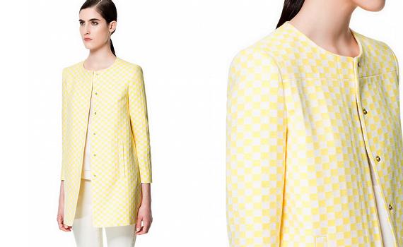 Manteau à damiers Zara