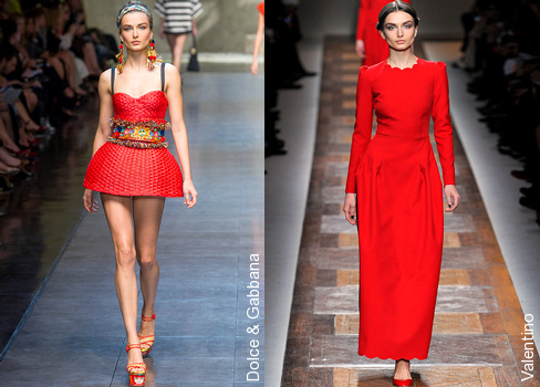 Andreea Diaconu - Dolce & Gabbana et Valentino