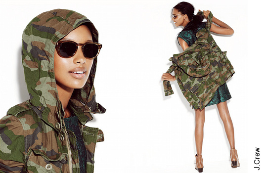 Imprim� camouflage J.Crew