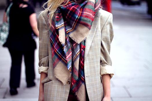 �charpe � carreaux Zara