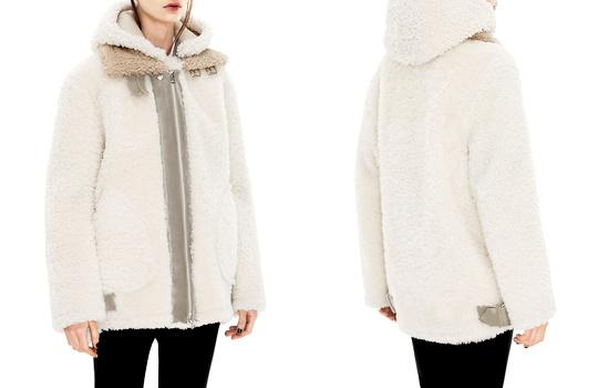 Manteau en shearling Acne