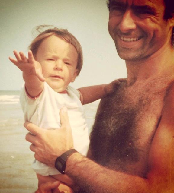 Mon père et moi à la plage - 1983