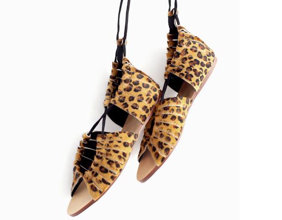 Sandales léopard Zara