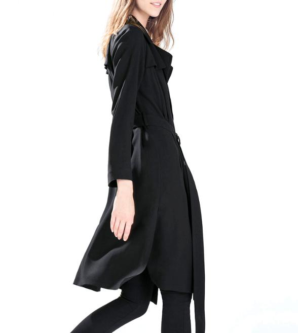Trench liquide noir Zara