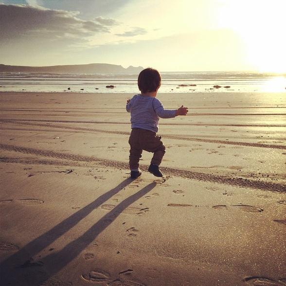 Charles sur la plage