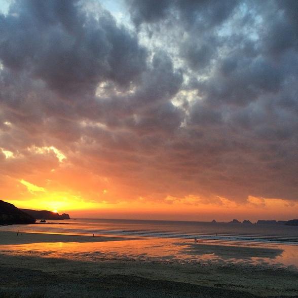 Coucher de soleil sur la presqu'île de Crozon