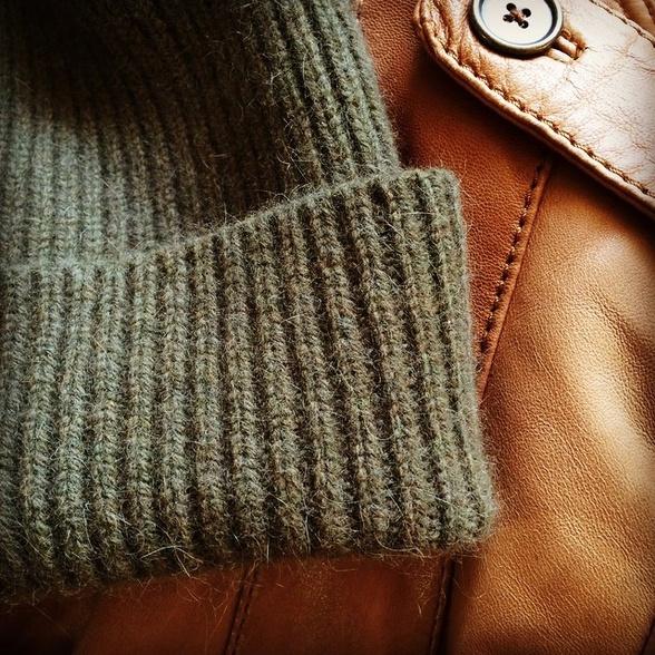 Bonnet + blouson en cuir