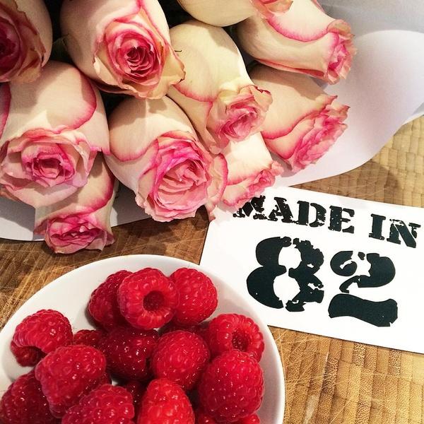 Roses et framboises