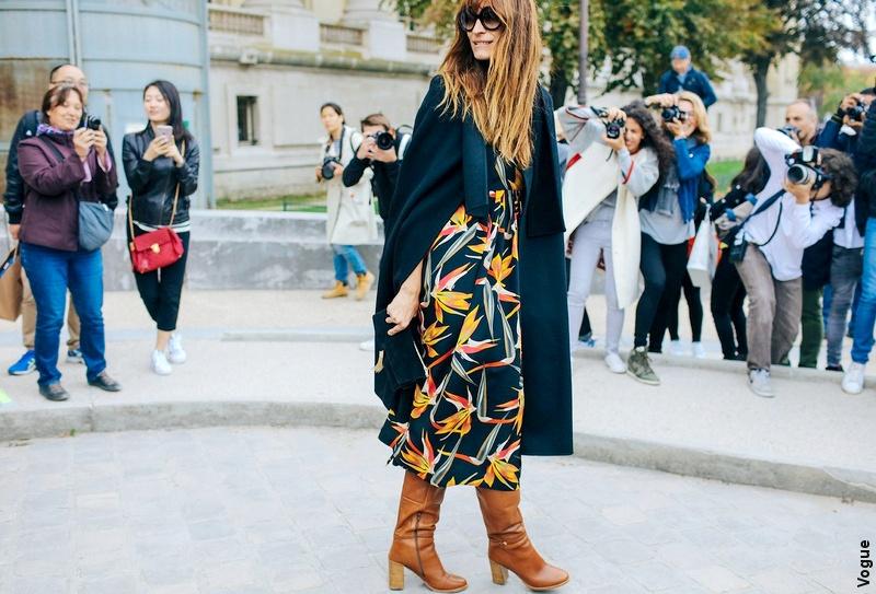 Streetstyle Paris - Robe fleurie