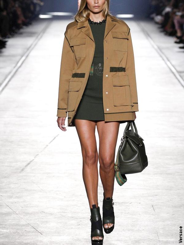 Veste kaki - Défilé Versace