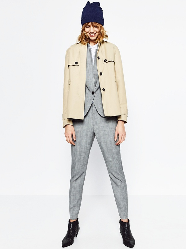 Costume gris + veste camel