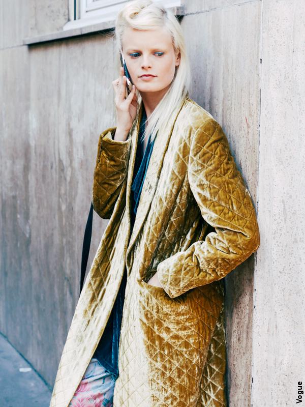 Manteau matelassé jaune