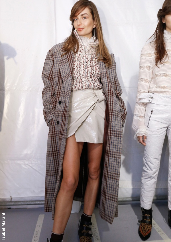 Manteau à carreaux Isabel Marant