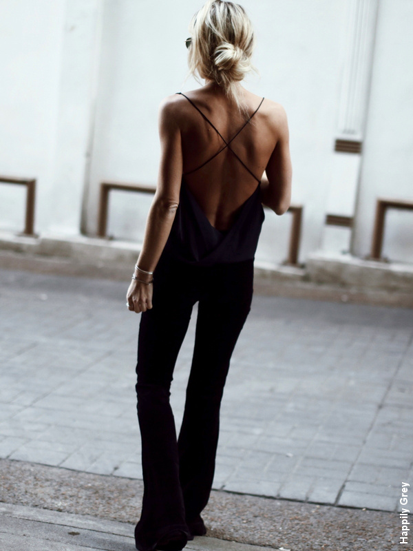 Total look noir dos nu