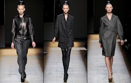 d fil yves saint laurent automne hiver 2009 2010 tendances de mode. Black Bedroom Furniture Sets. Home Design Ideas