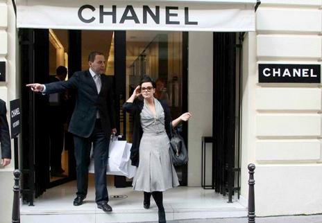 Lily Allen chez Chanel