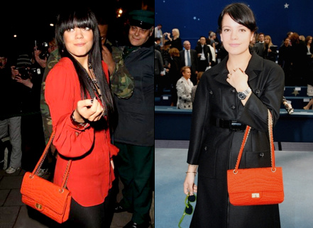 Lily Allen et son sac Chanel