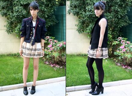 La mini-jupe babydoll