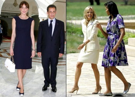 Carla Bruni Sarkozy et Michelle Obama