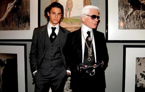 Karl Lagerfeld & Baptiste Giabiconi