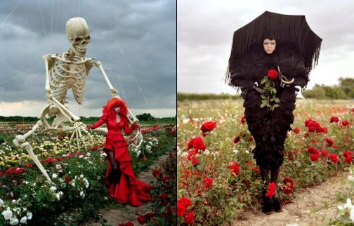 Tim Burton pour Harper's Bazaar