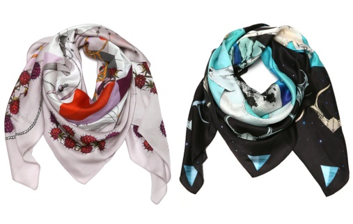 Foulards en soie Forget me not