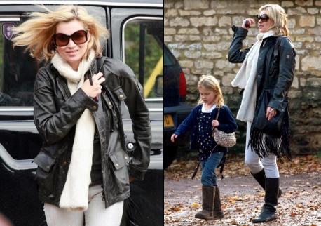 Kate Moss et sa fille