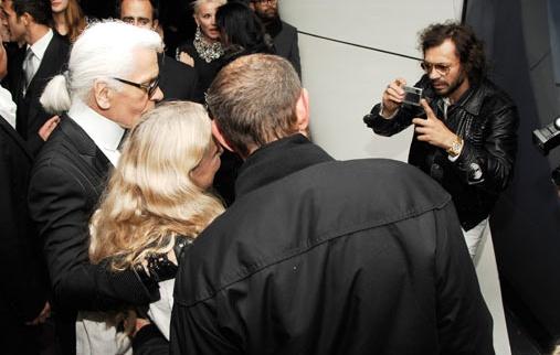 Olivier Zahm & Karl Lagerfeld