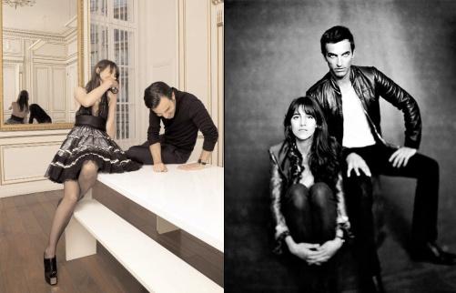 Nicolas Ghesqui�re et Charlotte Gainsbourg