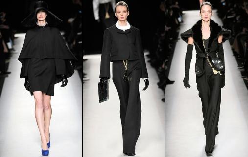 d fil yves saint laurent automne hiver 2010 2011 tendances de mode. Black Bedroom Furniture Sets. Home Design Ideas
