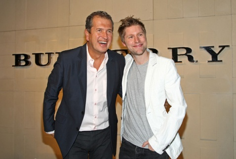 Christopher Bailey & Mario Testino