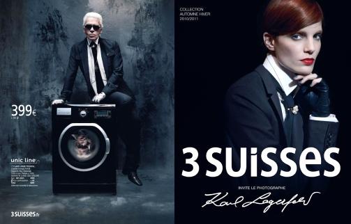 Karl Lagerfeld x 3 Suisses