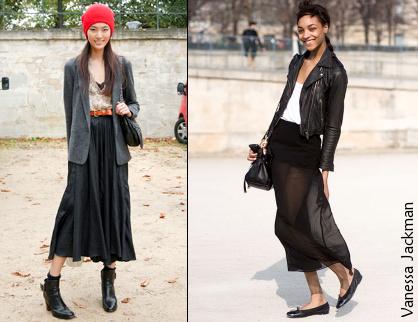 La jupe semi-longue
