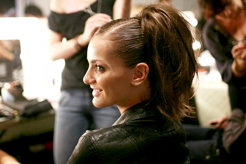Denisa Dvorakova en backstage