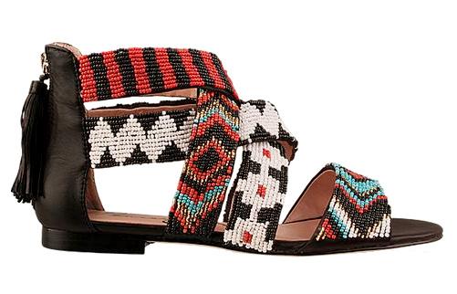 Sandales ethno chic