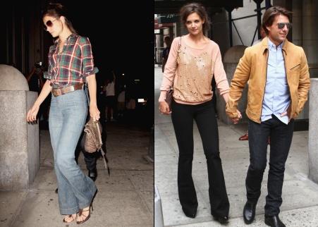 les jeans pattes d 39 eph 39 de katie holmes tendances de mode. Black Bedroom Furniture Sets. Home Design Ideas