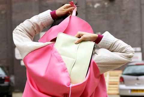 Le blouson sac à dos