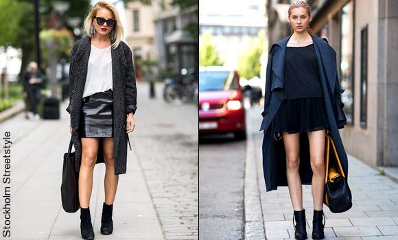 Maxi manteau + jupe courte