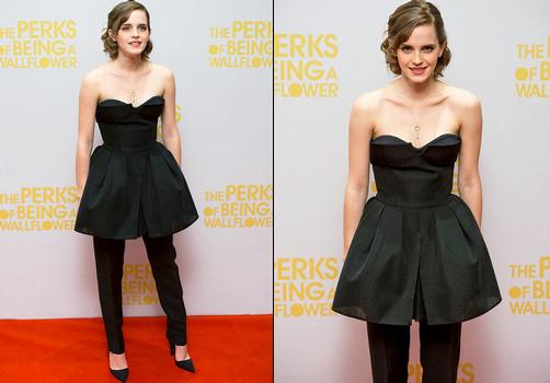 Emma Watson en robe/pantalon