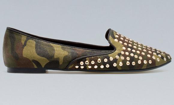 Slippers camouflage Zara