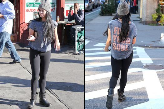 Vanessa Hudgens en leggings