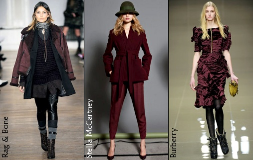 burgundy as a neutral colour