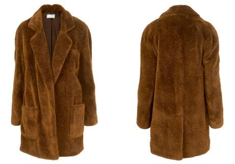 Manteau en fausse fourrure Topshop Unique