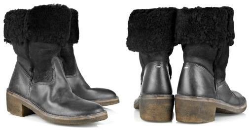 Boots en shearling Maison Martin Margiela