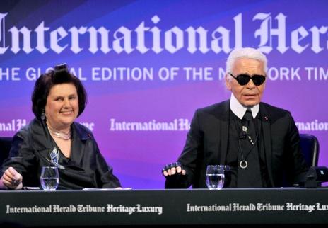 Karl Lagerfeld & Suzy Menkes